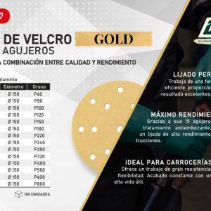 Disco de LIJA GOLD para carrocería de coche – DPA LIJA VELCRO GOLD