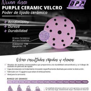 Lija carrocería de coche abrasivo de cerámica para automoción – PURPLE CERAMIC VELCRO
